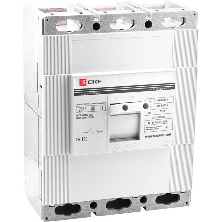 EKF Автоматический выключатель ВА-99 800/630А 3P 35кА  mccb99-800-630