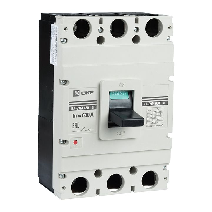 EKF Автоматический выключатель ВА-99М 630/630А 3P 50кА EKF Basic