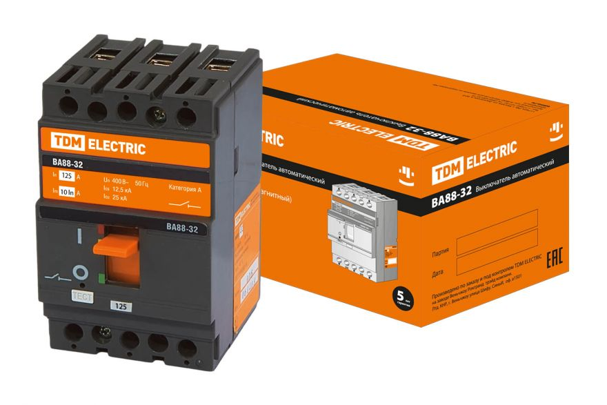 Автоматический выключатель TDM ВА88-37 SQ0707-0020