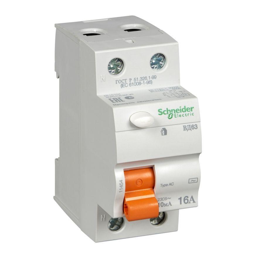 Устройство защитного отключения Schneider Electric ВД63 Домовой - 11454