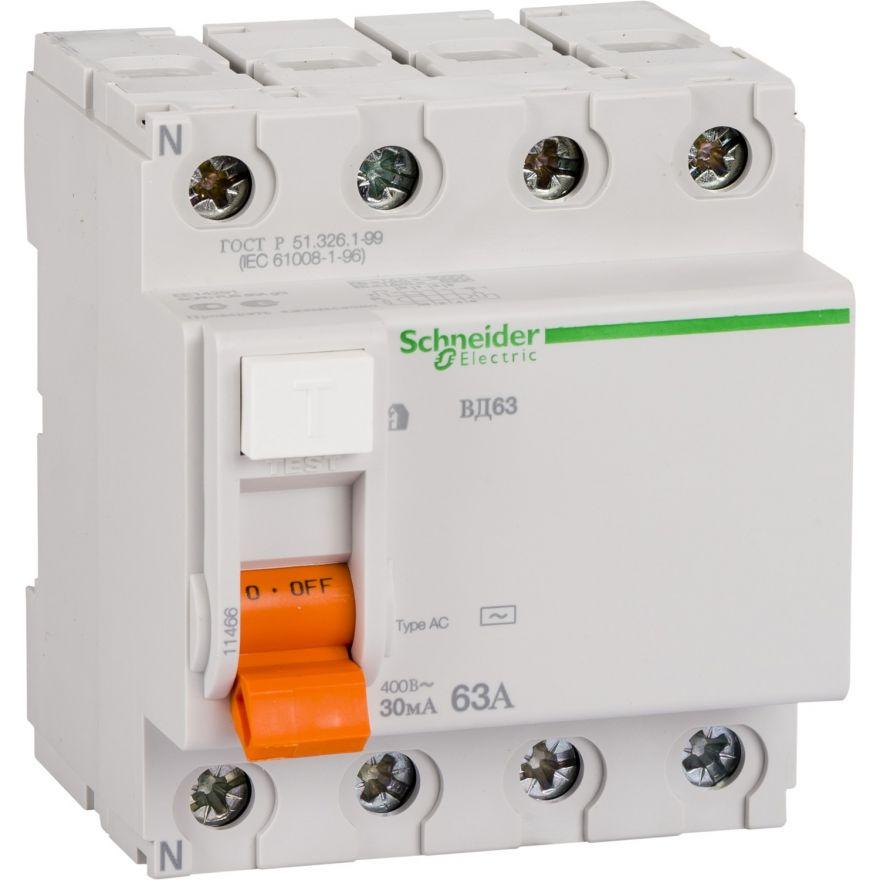 Устройство защитного отключения Schneider Electric ВД63 Домовой  11460