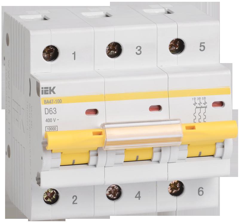 Автоматический выключатель IEK MVA40-3-100-D