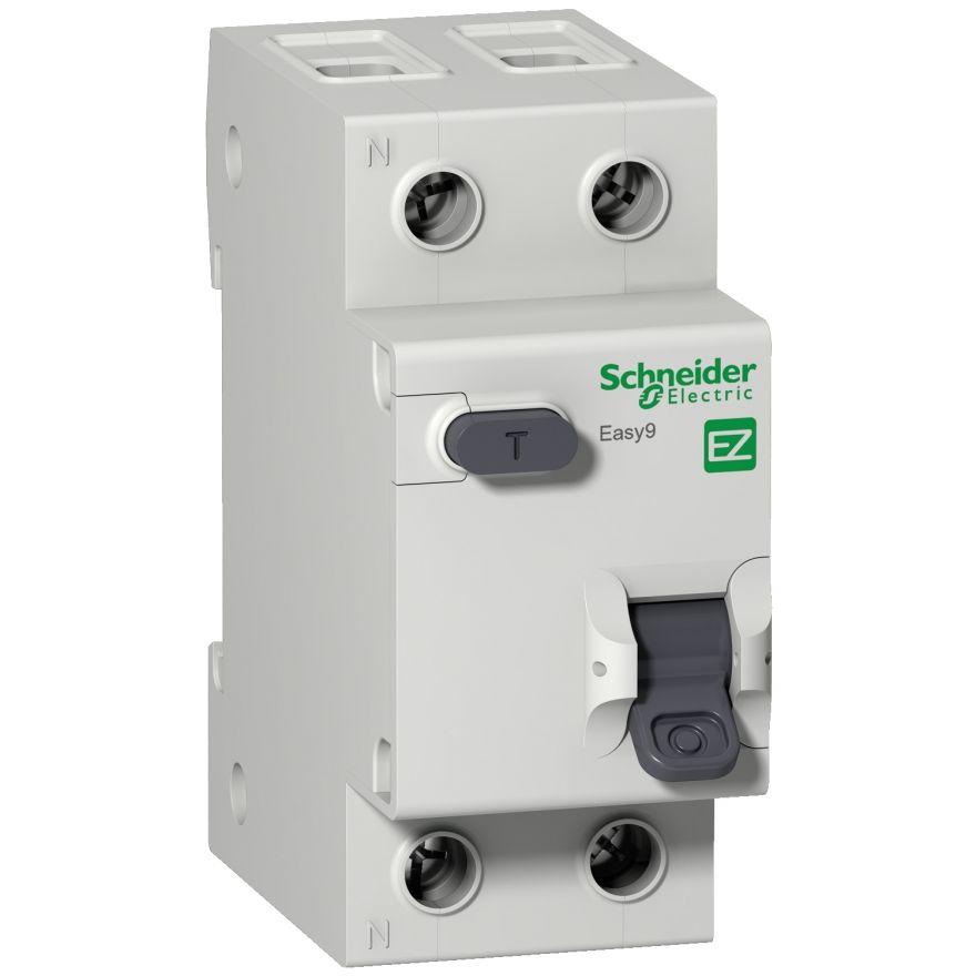 Schneider EASY 9 диф. автомат АВДТ 1P+N 16А/30mA хар-ка C, УЗО типа AC, электрон. 4,5кА EZ9D34616