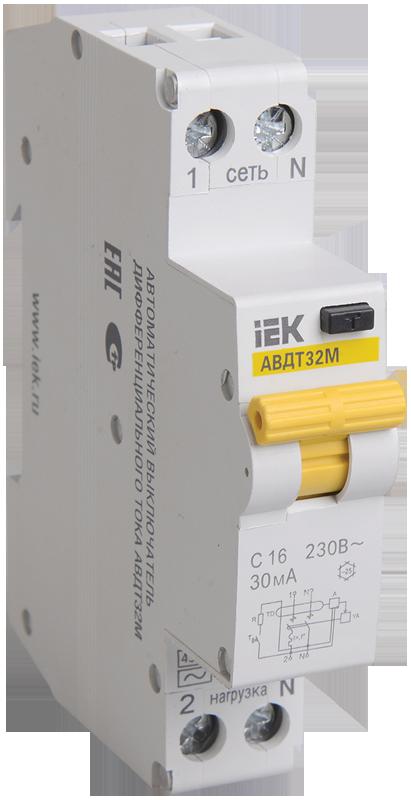 Автоматический выключатель дифференциального тока IEK MAD32-5-025-C-30
