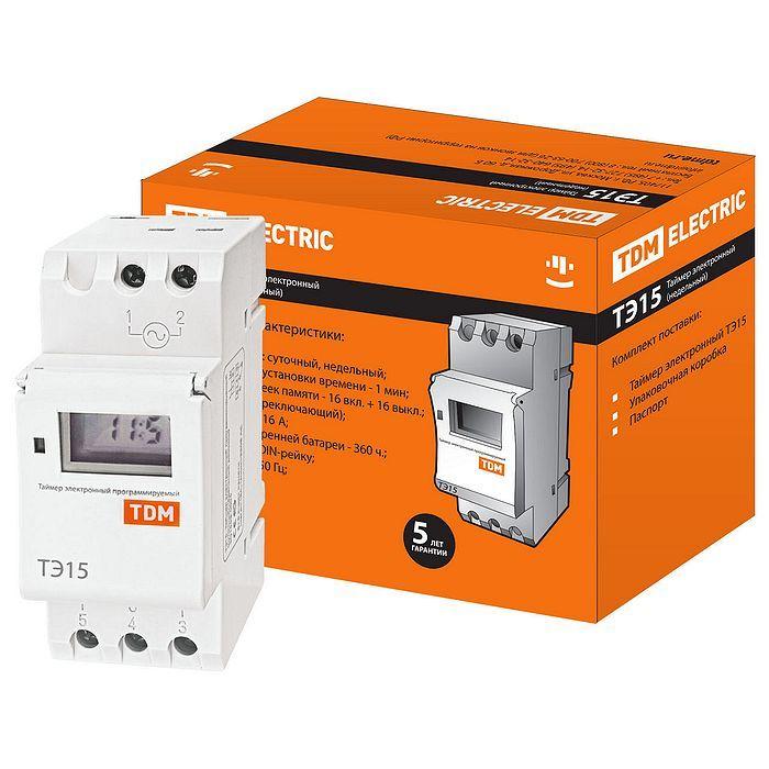 Электронный программируемый таймер TDM ТЭ15 SQ1503-0005