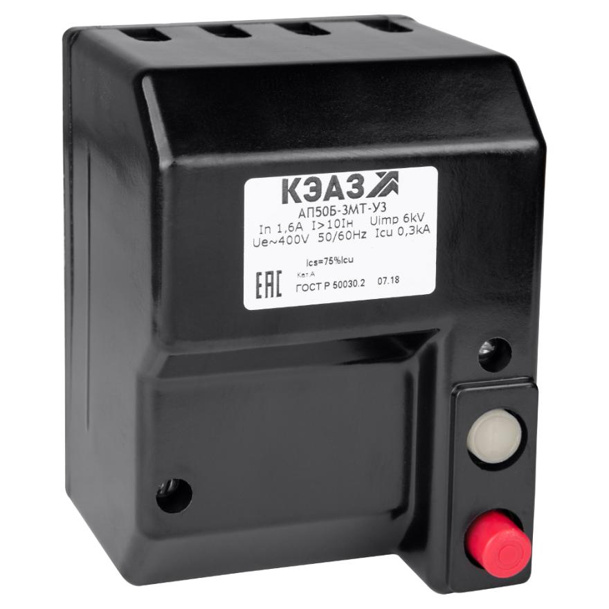 Автоматический выключатель КЭАЗ АП-50Б-3МТ АП50Б-3МТ-4А