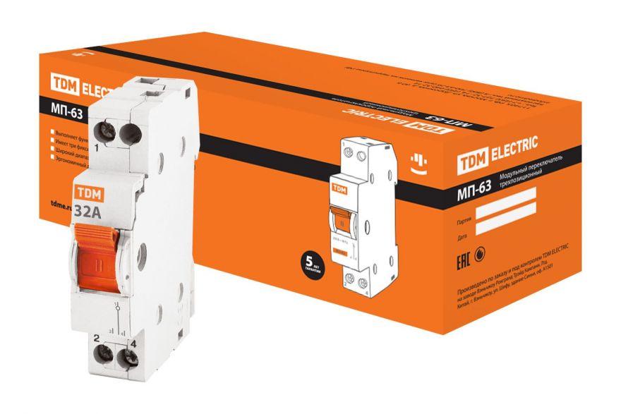 Модульный переключатель TDM МП-63 SQ0224-0016