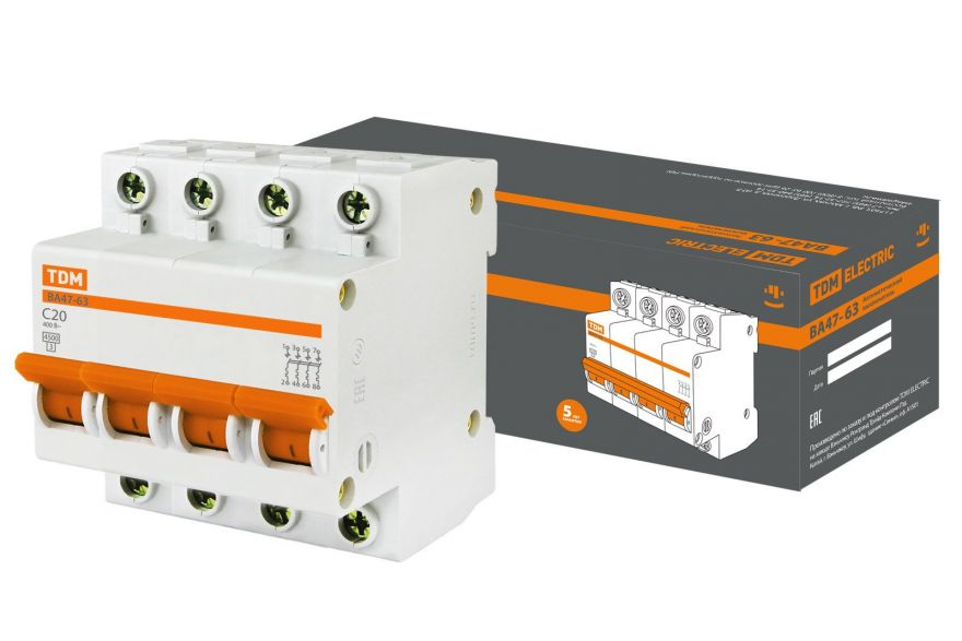 Автоматический выключатель TDM ВА47-63 SQ0218-0031