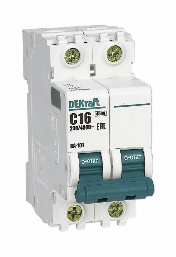 Schneider Electric DEKraft автоматический выкл. ВА-101 4P 40А 4,5kA х-ка С 11094DEK