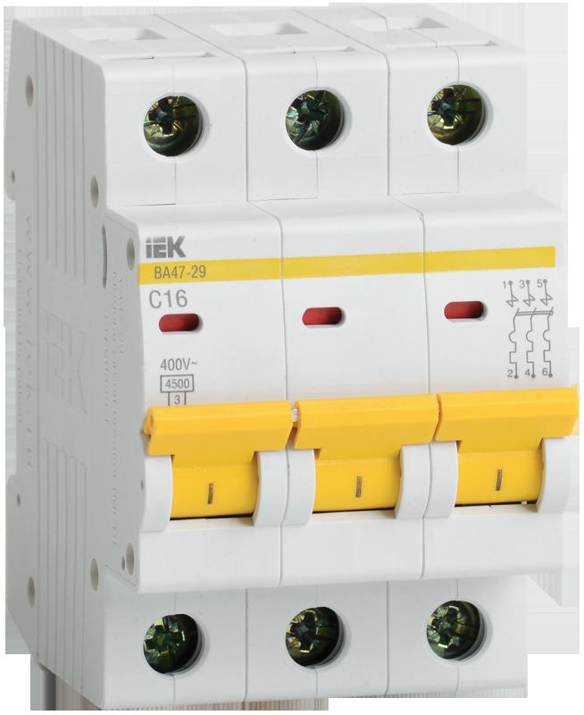 Автоматический выключатель IEK MVA20-3-010-C