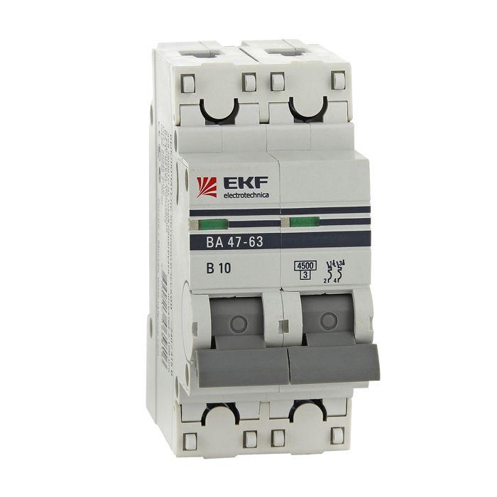 EKF Автоматический выключатель ВА47-63, 2P 32А (D) 4,5kA EKF PROxima