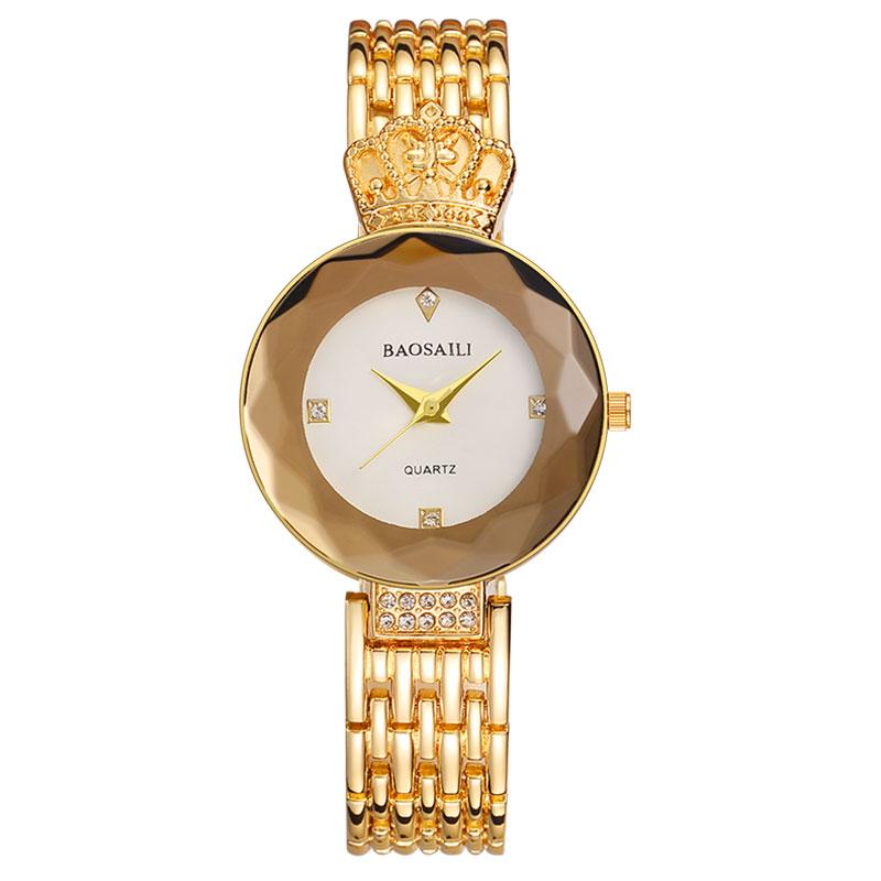 Модные часы с короной Baosaili, Золотой