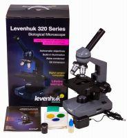 Микроскоп Levenhuk 320 PLUS, монокулярный - упаковка