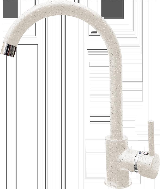 Смеситель для кухни GranFest Мрамор GF7651 Белый