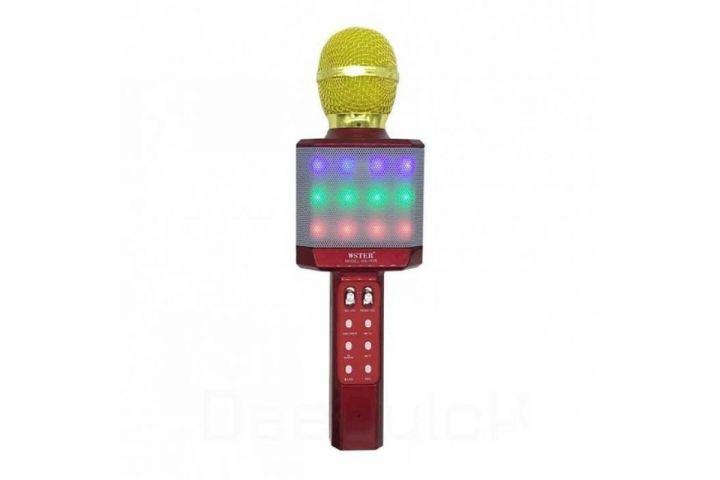 Беспроводной караоке микрофон с динамиком и подсветкой WS-1828