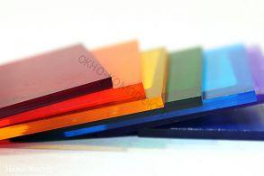 """Монолитный поликарбонат """"Кристалл"""" 2мм (Диффузор,опал,коричневый,бордовый,красный,желтый,зеленый ,серебристый, синий,бирюза) Размер: 2,05*3,05м"""