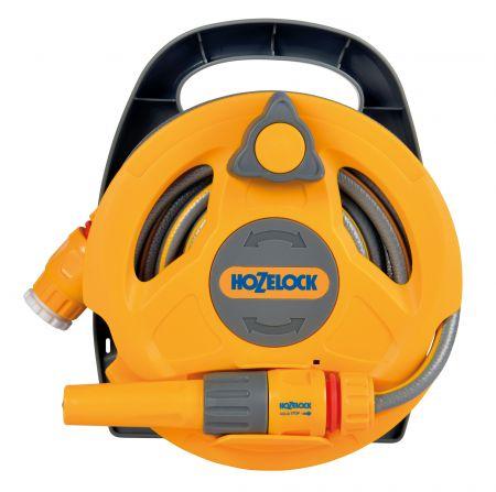 Катушка Микро HoZelock 2427  Click & Go со шлангом 10 м и комплектом фитингов