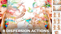 [creativemarket.com] 8 рассеивающихся экшенов / 8 Dispersion Actions for Photoshop