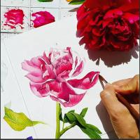 Как нарисовать пион (Марьяна Брюханова)