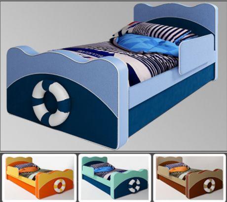 Детская кровать Капитан для двоих детей с бортиком