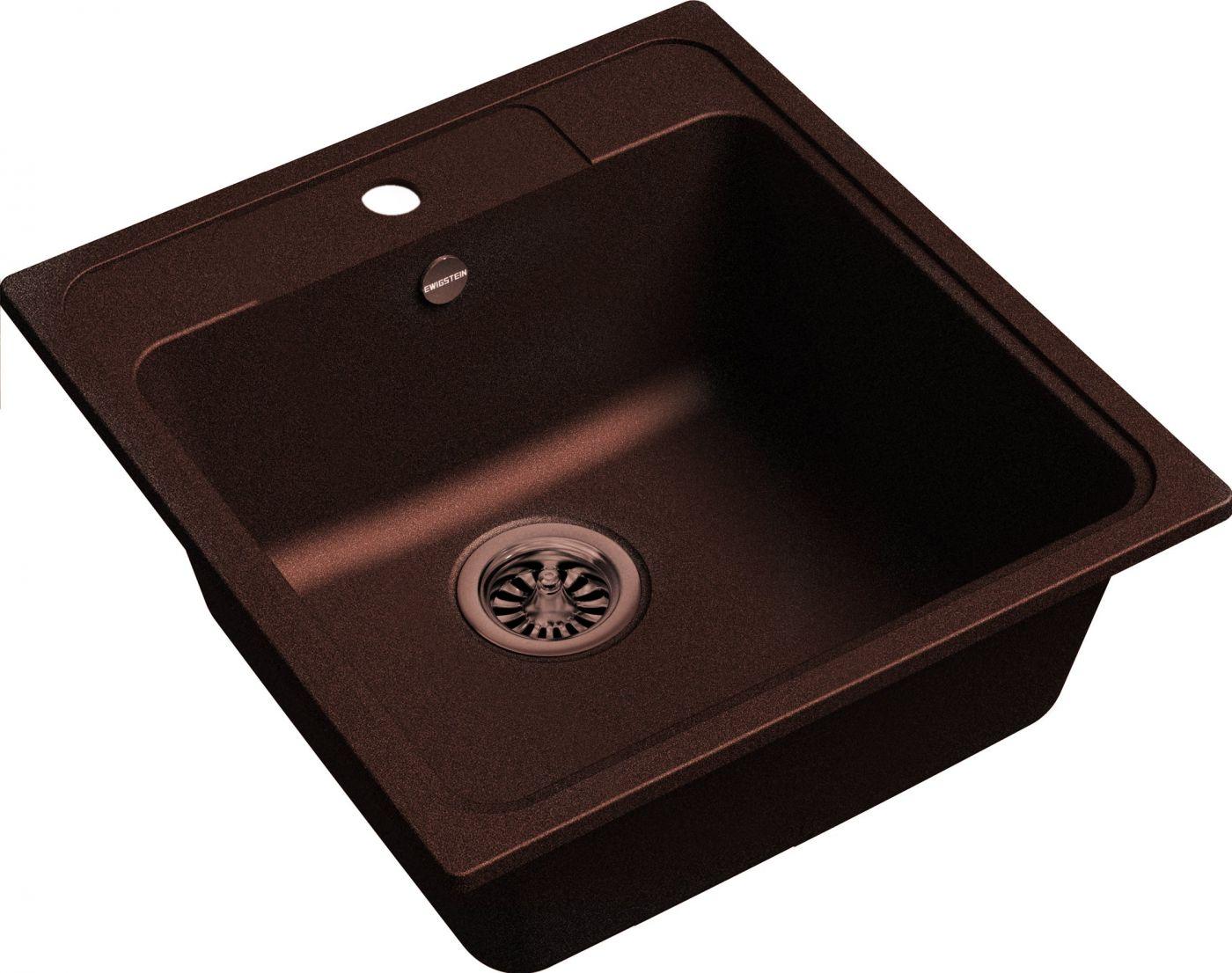 Кварцевая мойка Ewigstein Elegant 50 Шоколад