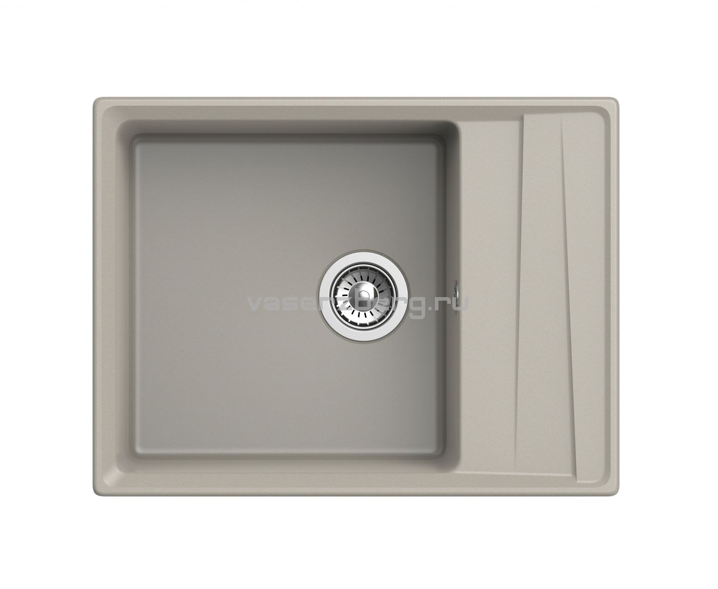 Мраморная мойка для кухни GranFest Level GF-LV660L Топаз