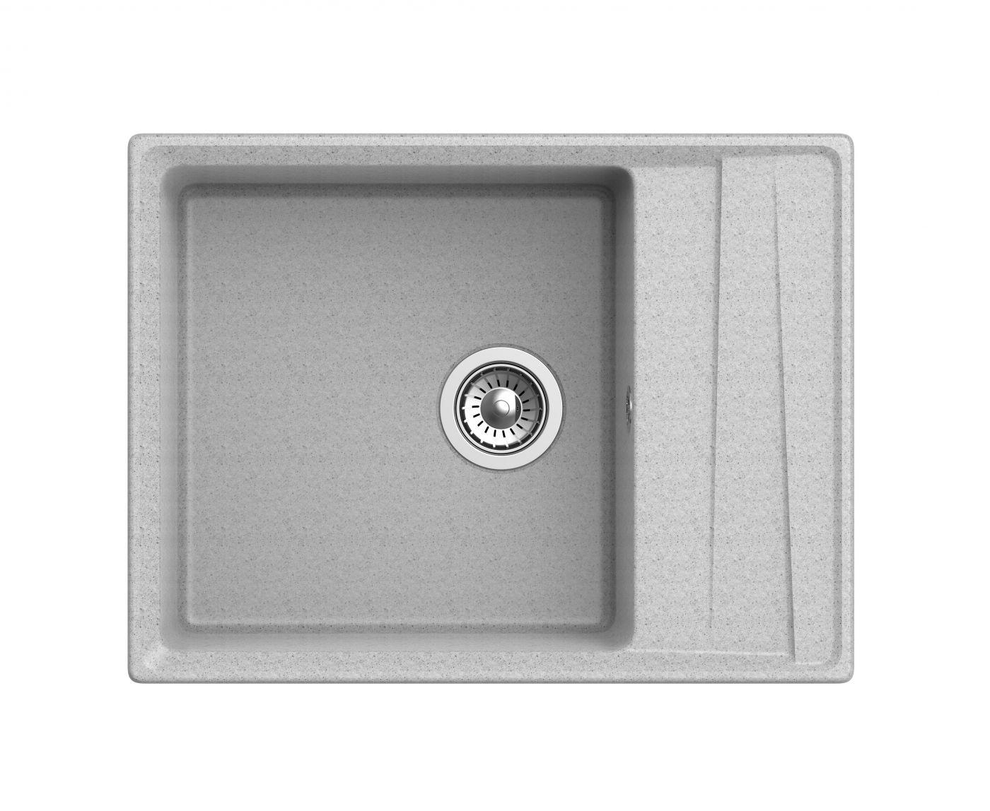 Мраморная мойка для кухни GranFest Level GF-LV660L Серый