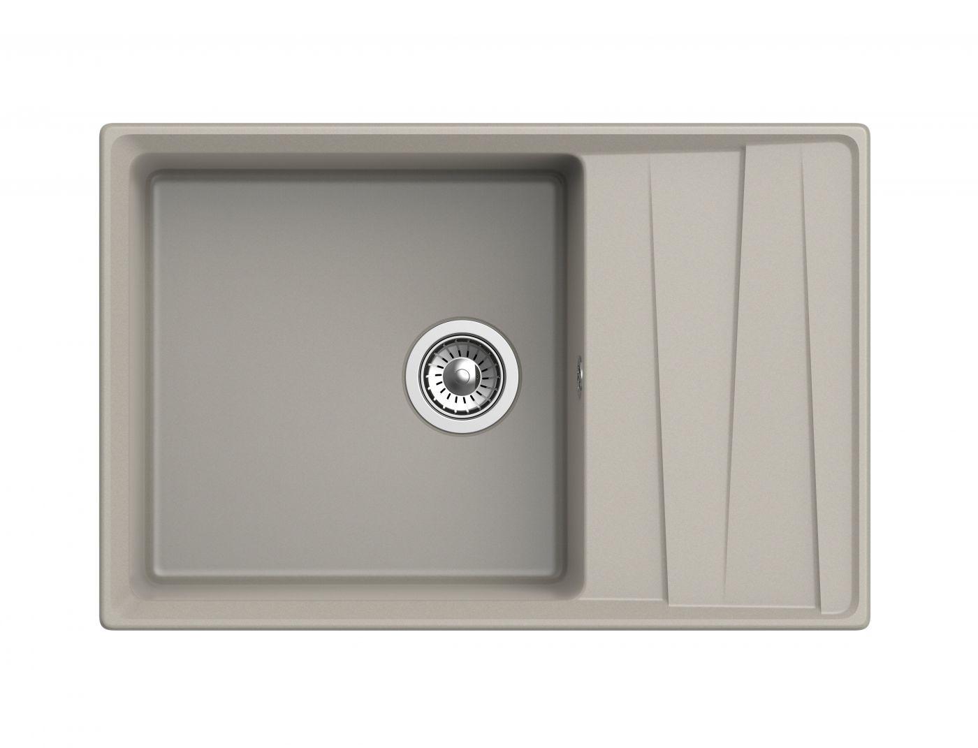 Мраморная мойка для кухни GranFest Level GF-LV760L Топаз
