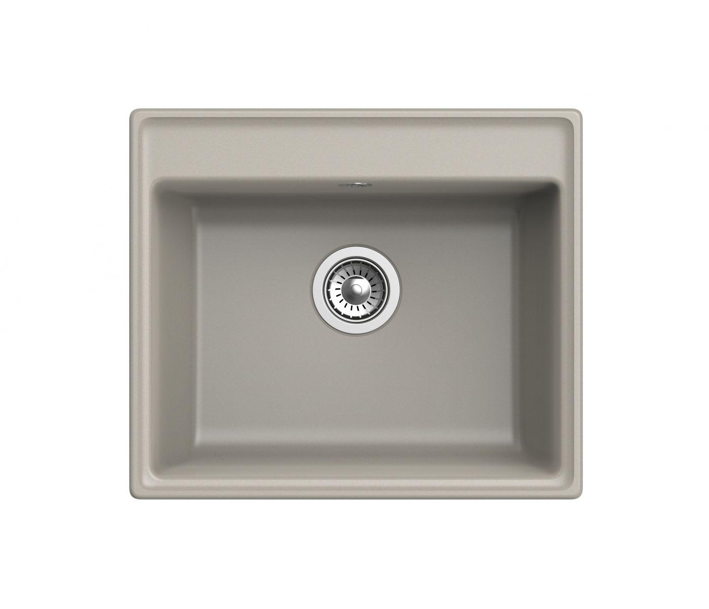 Мраморная мойка для кухни GranFest Vertex GF-V580 Топаз