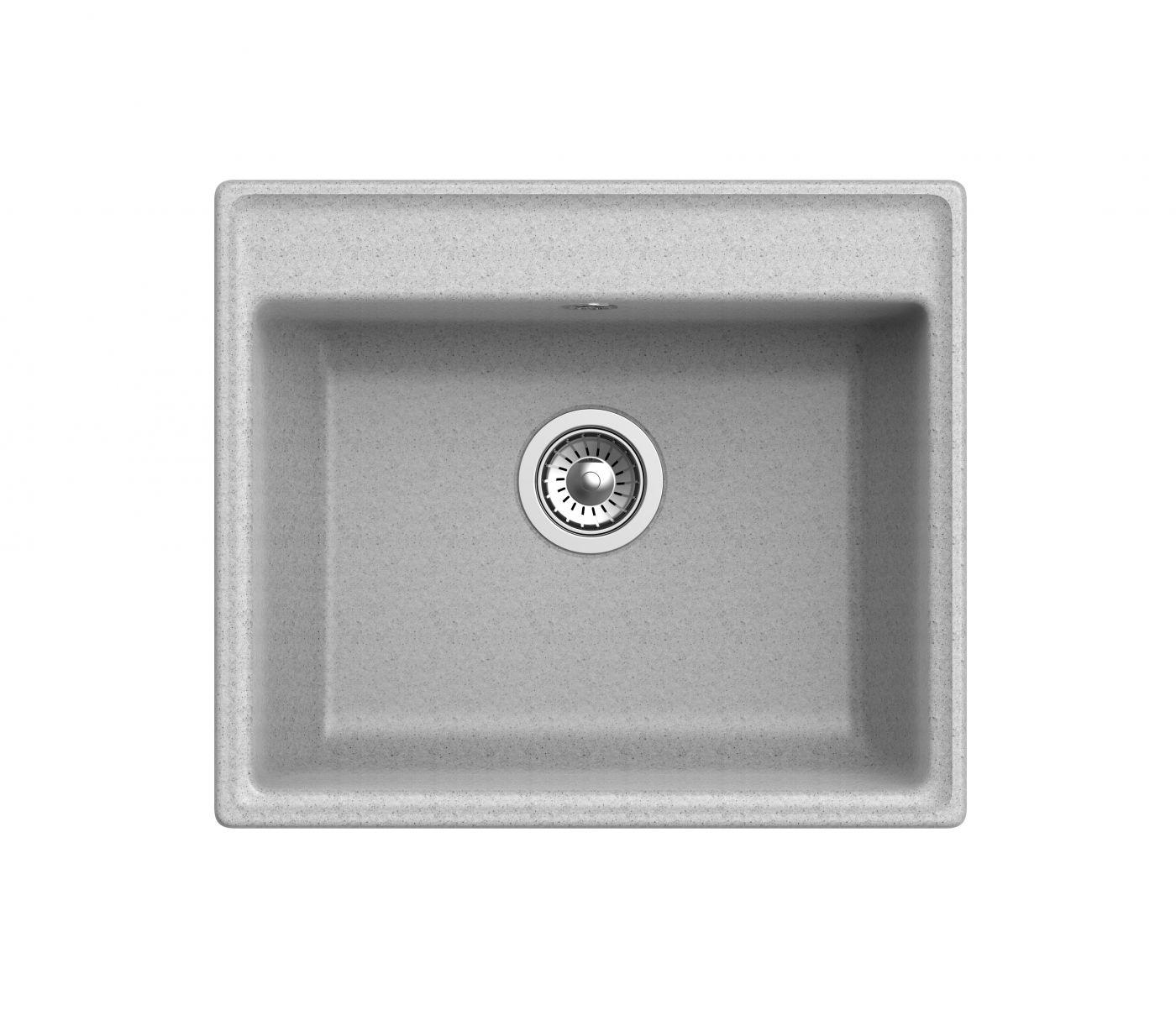 Мраморная мойка для кухни GranFest Vertex GF-V580 Серый