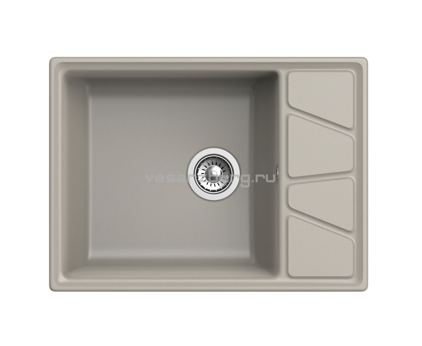Мраморная мойка для кухни GranFest Vertex GF-V680L Топаз