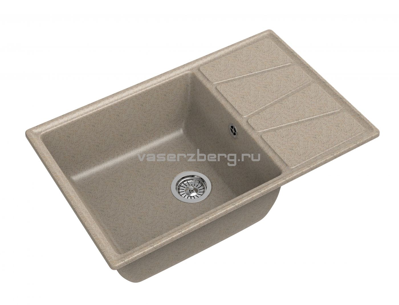 Мраморная мойка для кухни GranFest Vertex GF-V780L Песочный