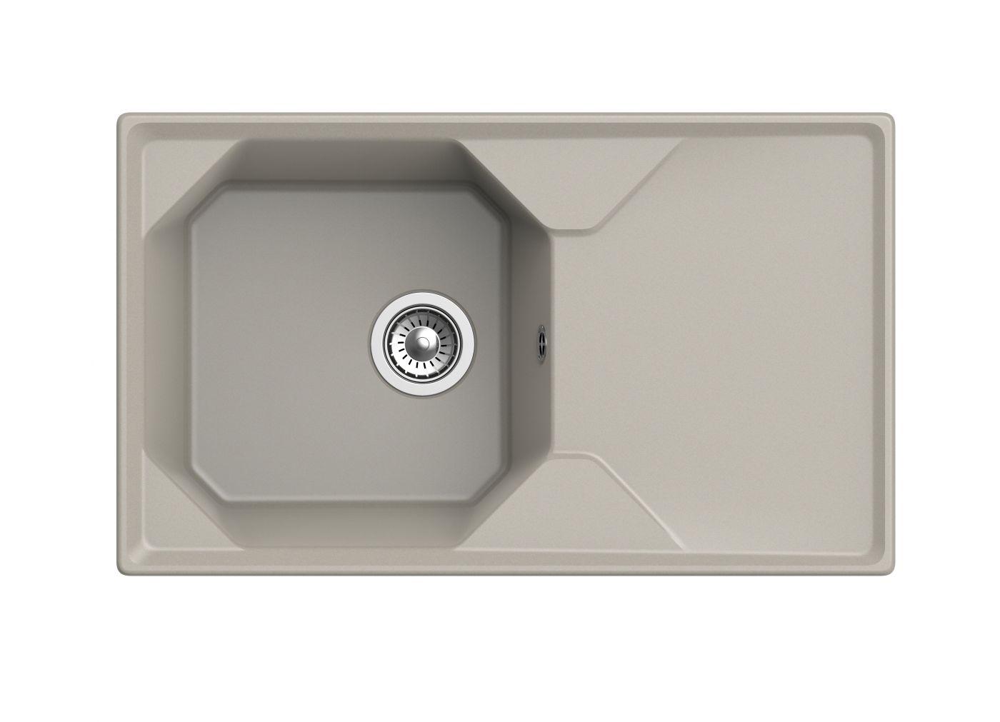 Мраморная мойка для кухни GranFest Unique GF-U840L Топаз