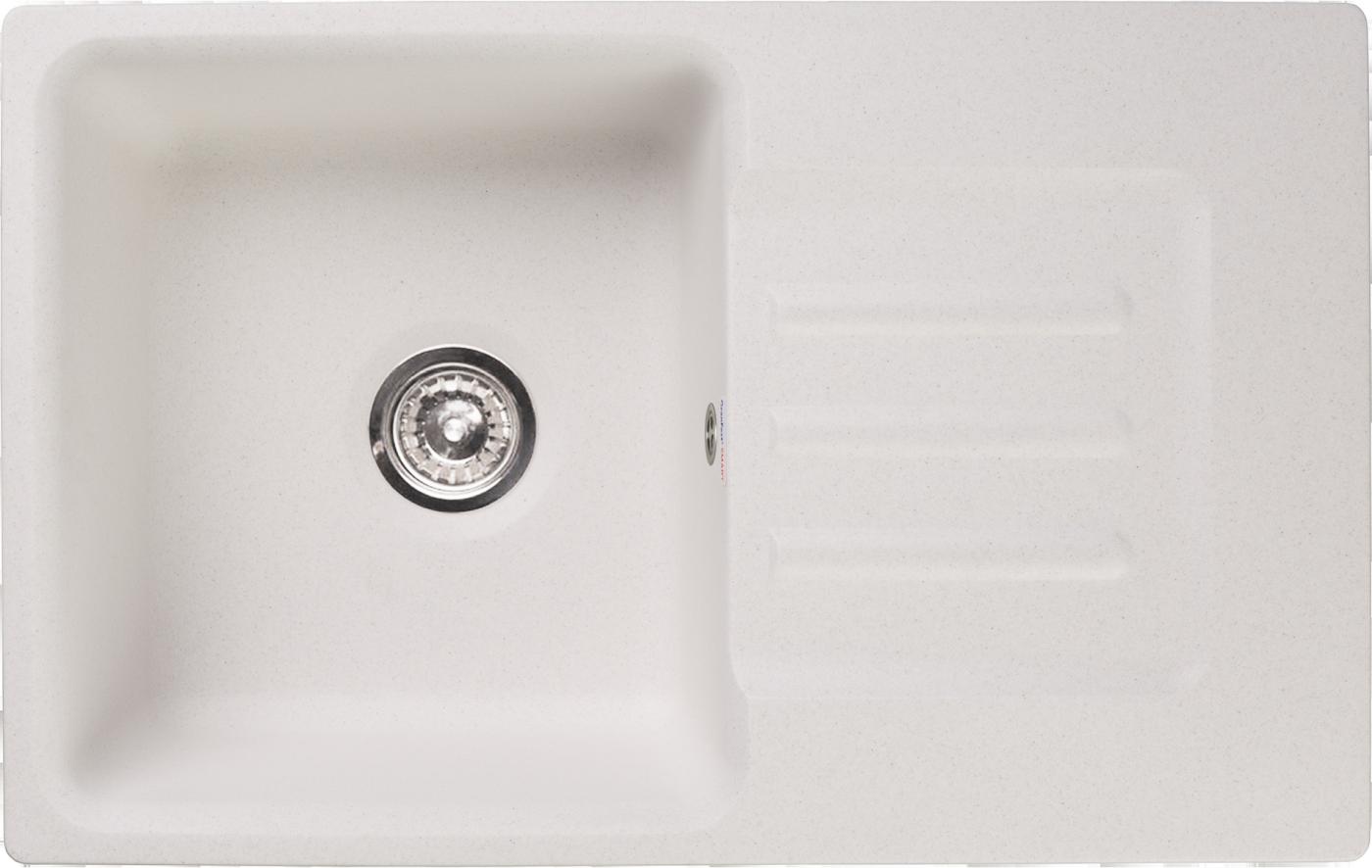 Мраморная мойка для кухни GranFest Smart SM680L Белый