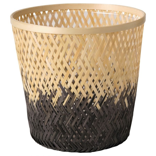 VATTENMELON ВАТТЕНМЕЛОН, Кашпо, бамбук естественный/черный, 19 см - 404.815.25