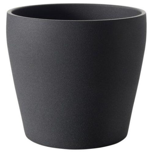 PERSILLADE ПЕРСИЛЛАДЕ, Кашпо, темно-серый, 12 см - 004.509.98