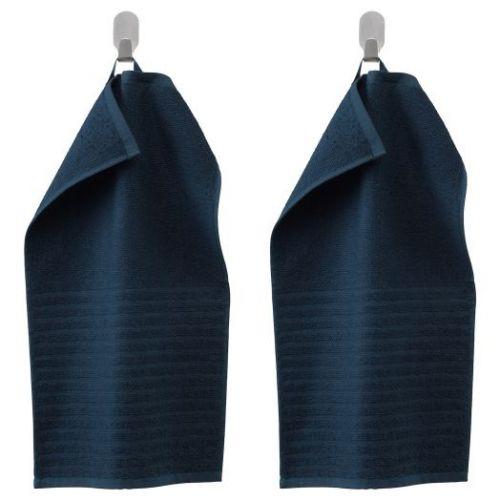 VAGSJON ВОГШЁН, Полотенце, темно-синий, 30x50 см - 003.536.00