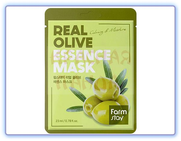 Тканевая маска для лица с экстрактом оливы FarmStay Real Olive Essence Mask