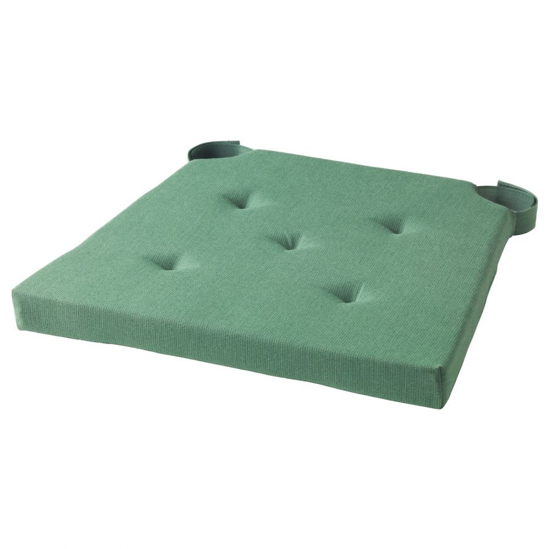JUSTINA ЮСТИНА, Подушка на стул, зеленый, 42/35x40x4 см - 403.557.44