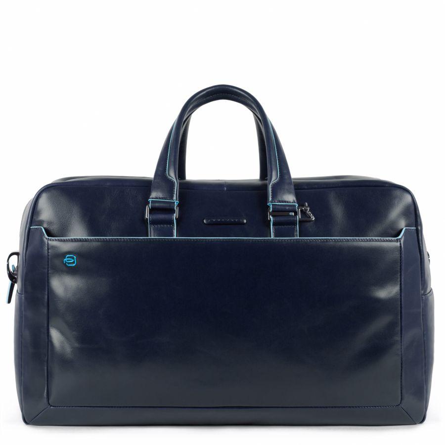 Дорожная сумка Piquadro BV5407B2/BLU2 кожаная синяя