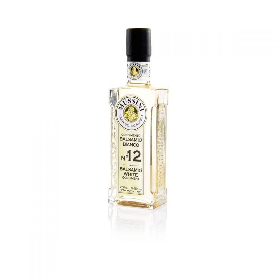 Заправка на основе бальзамического уксуса №12 (белая) 250 мл, Condimento balsamico bianco №12, Mussini, 250 ml