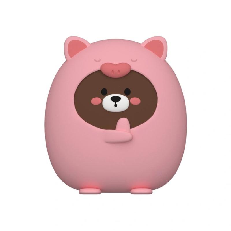 Сумка детская силиконовая, Мишка в костюме свинки