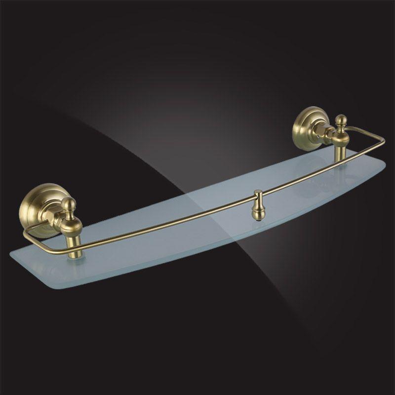 Стеклянная полка для ванной Elghansa Praktic PRK-550 Bronze