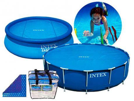 """Intex 29020, обогревающий тент-покрывало """"SOLAR COVER"""" для бассейна, 244 см"""