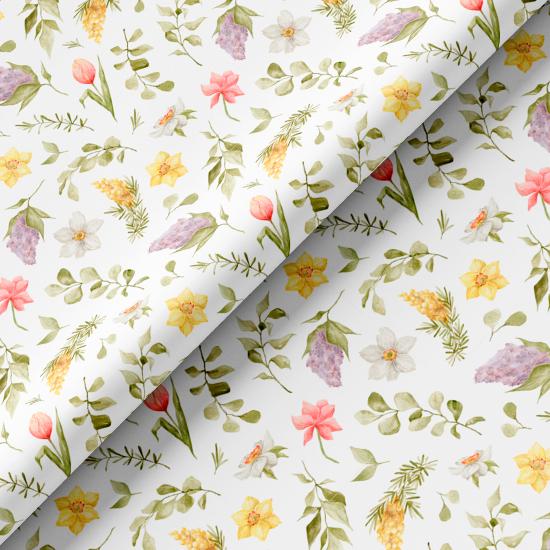 Хлопок Перкаль - Весенние цветы 50х37