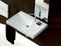 Подвесная или мебельная накладная раковина Hatria Grandagolo 75 75х50 схема 5