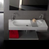 Подвесная/мебельная накладная раковина Hatria Area 110х35 схема 2