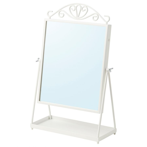 KARMSUND КАРМСУНД, Зеркало настольное, белый, 27x43 см - 104.938.41
