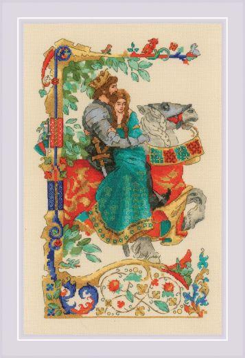 Набор для вышивания крестом Баллада о любви №1924 фирма Риолис