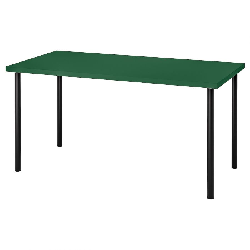 LINNMON ЛИННМОН / ADILS АДИЛЬС, Стол, зеленый/черный, 150x75 см - 993.355.27